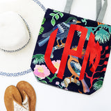 Monogram Patterned Beach Totes | Clearance