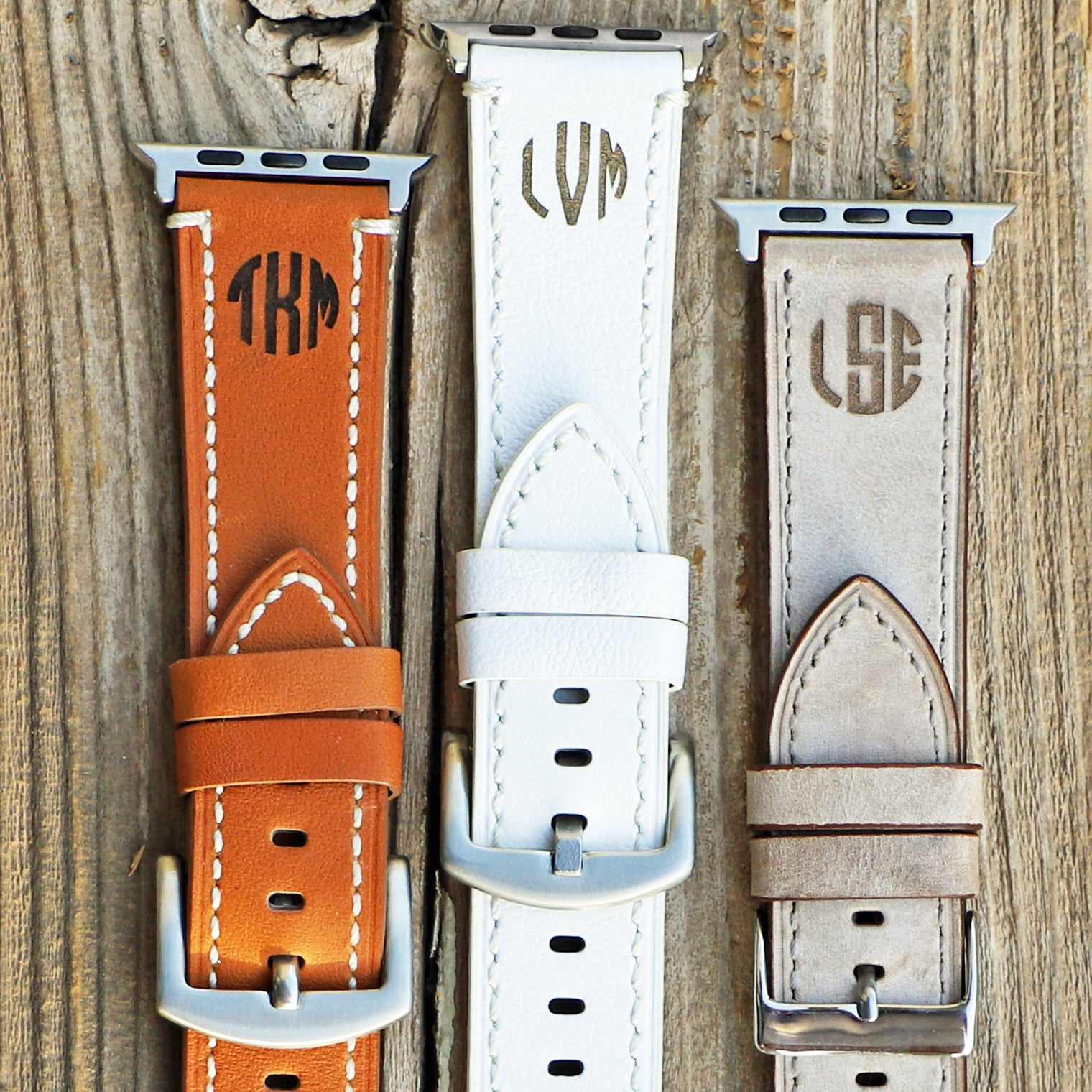 Leather Apple Watch Bands Monogrammed Violetfox