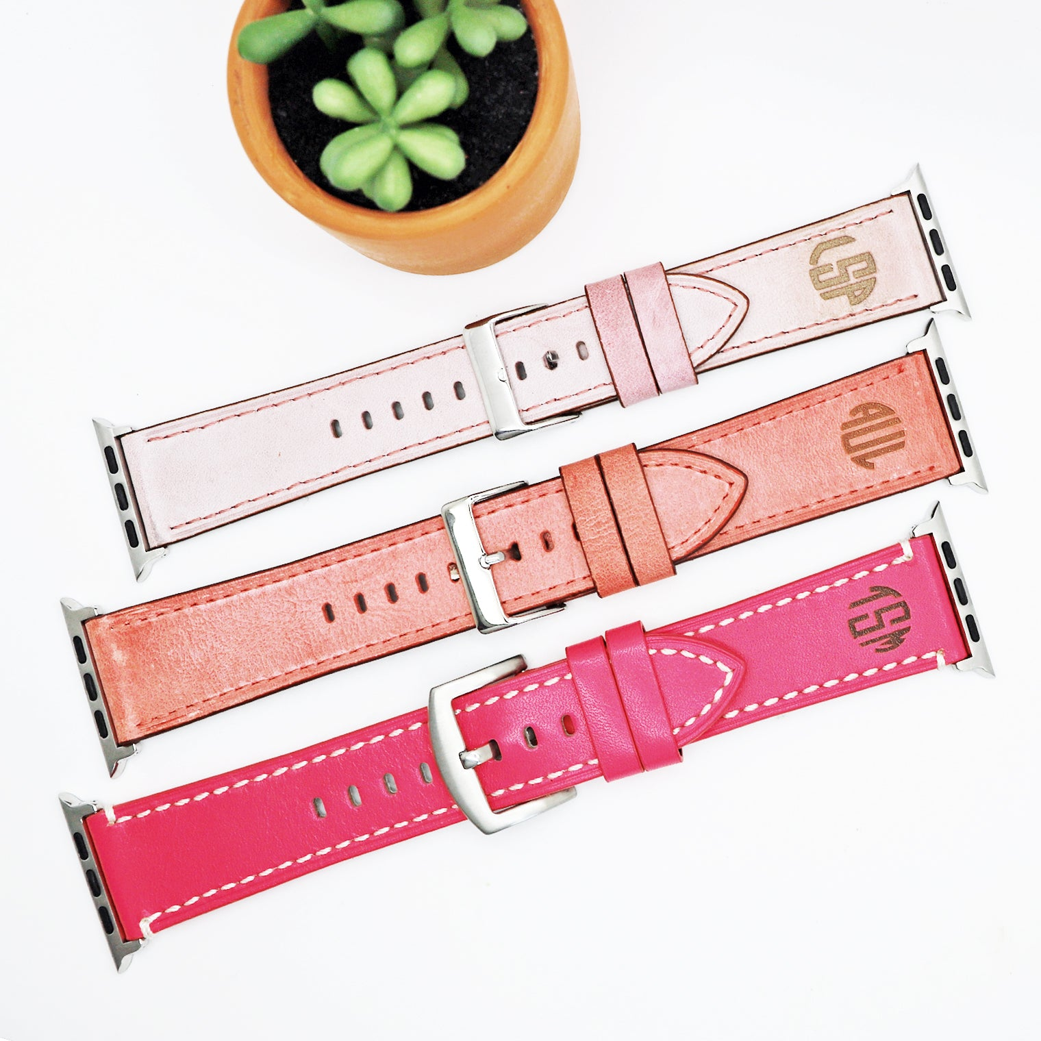 Leather Apple Watch Bands | Monogrammed