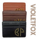 Personalized Men's Wallet - VioletFox