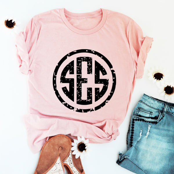 Distressed Monogram T-Shirt