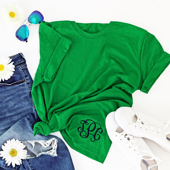 Embroidered Monogram T-Shirt - Krafty Chix