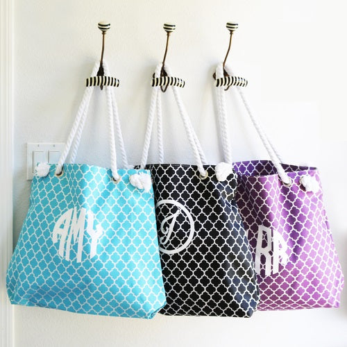 Stylish Summer Totes - Quatrefoil Pattern | Clearance