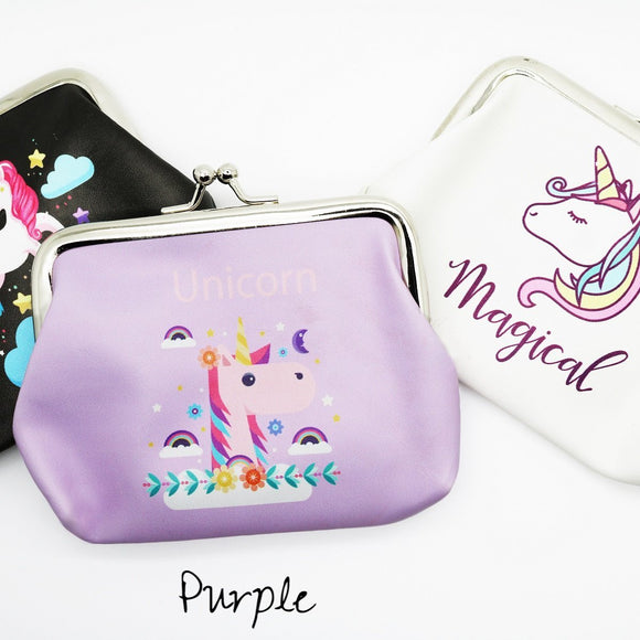 Unicorn Print Coin Purses - VioletFox