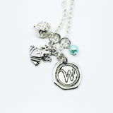 Personalized Wax Seal Charm Necklaces