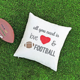Football Pillow Covers - Krafty Chix