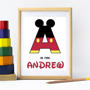 Personalized Character Prints