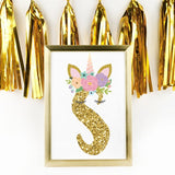 Personalized Unicorn Name or Letter Print