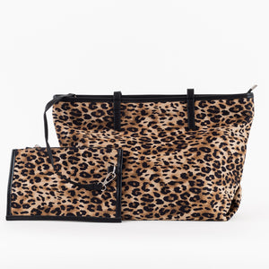 Animal Print Tote & Small Removable Clutch