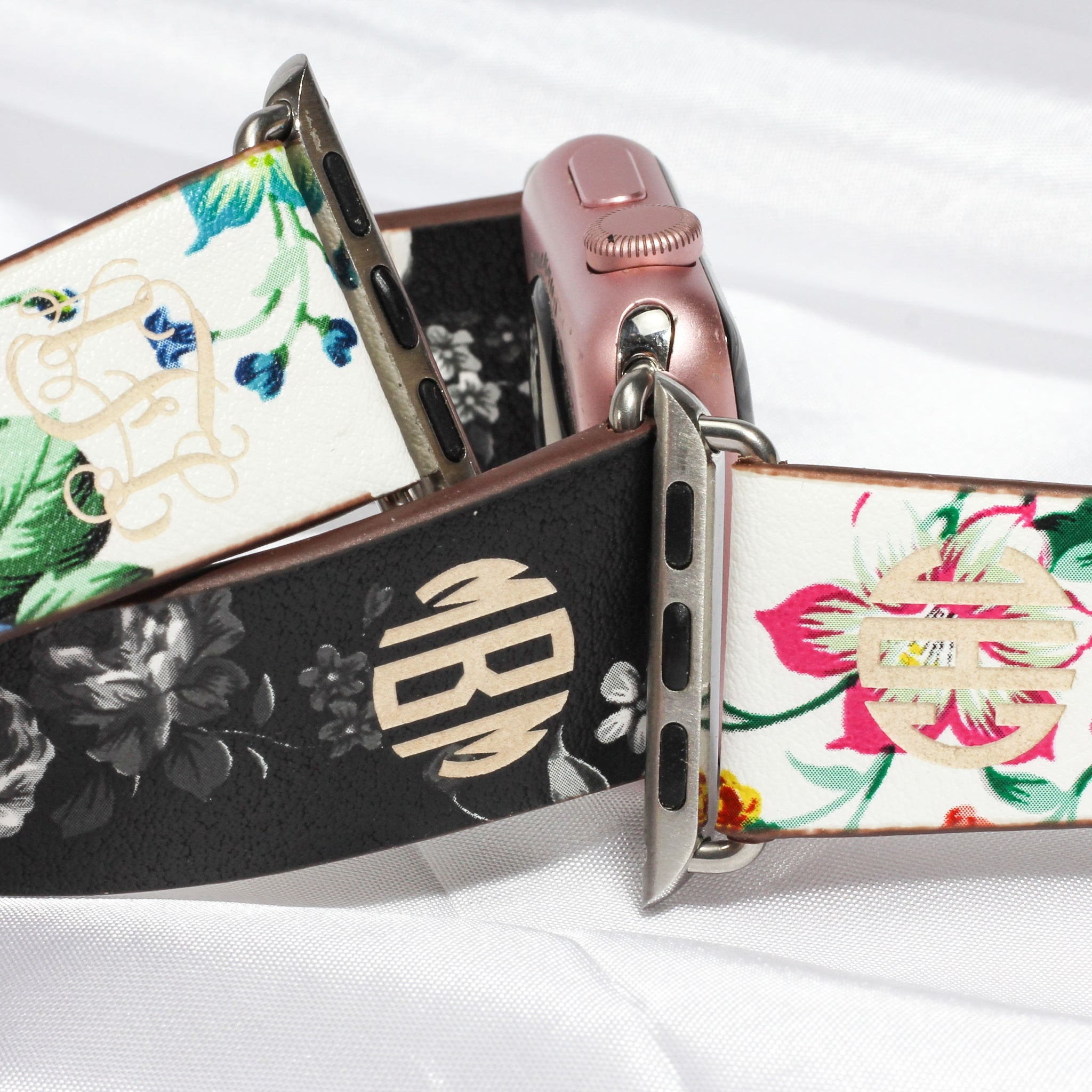 Monogram Apple Floral Watch Bands | Clearance