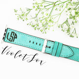 Double Sided Monogram Leather Apple Watch Bands