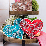 3 Pack Heart Decor - Farmhouse Decor