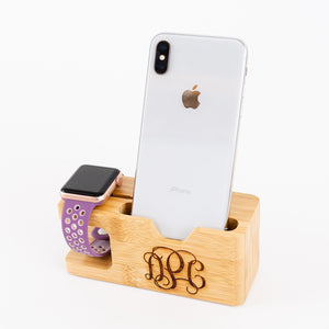 Personalized Bamboo Charging Stations