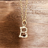 Bamboo Initial Necklace | Clearance