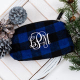 Buffalo Check Cosmetic Bag | Monogrammed
