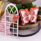 Butterfly Tier Tray Décor 3 Piece Set