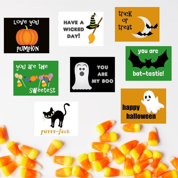 Halloween Lunch Box Cards | 45 Pack