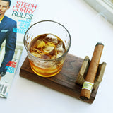 Dad's Cigar & Drink Holder | Handmade - Krafty Chix