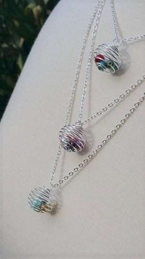 Birthstone Cage Necklace