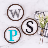 Mini Initial Shiplap Sign Décor | 2 Pack
