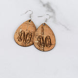 Monogram Cork Earrings