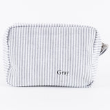 Personalized Seersucker Cosmetic Bags