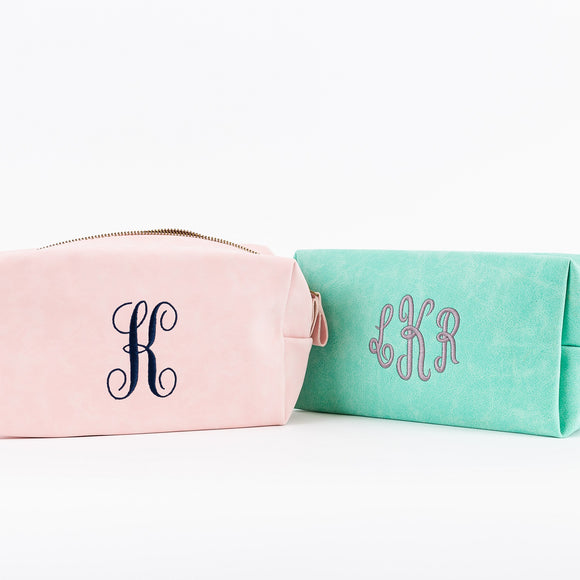 Personalized Soft Canvas Cosmetic Bags