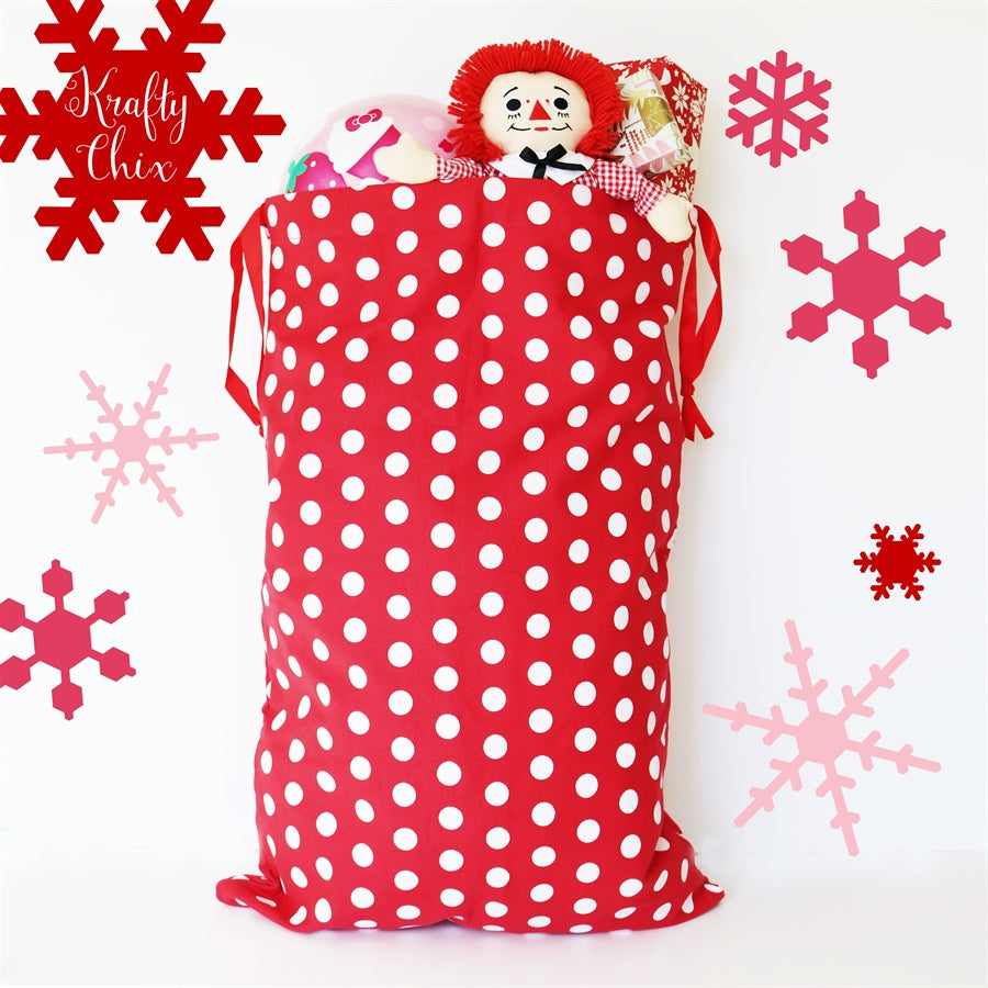 Santa Bags | Personalized - Krafty Chix New