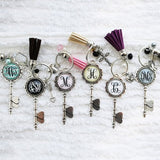 Personalized Tassel Skeleton Key Chain - VioletFox