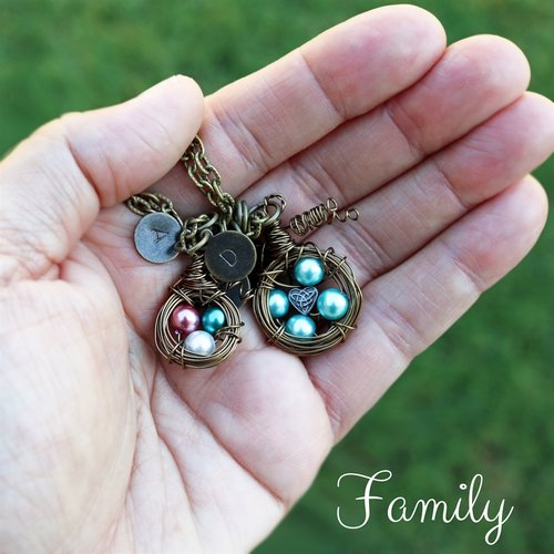Personalized Bird Nest Necklace - Krafty Chix New