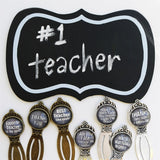 Teacher Chalkboard Bookmark | Bonus Gift Tag - VioletFox