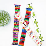 Candy & Flowers Apple Silicone Watch Bands