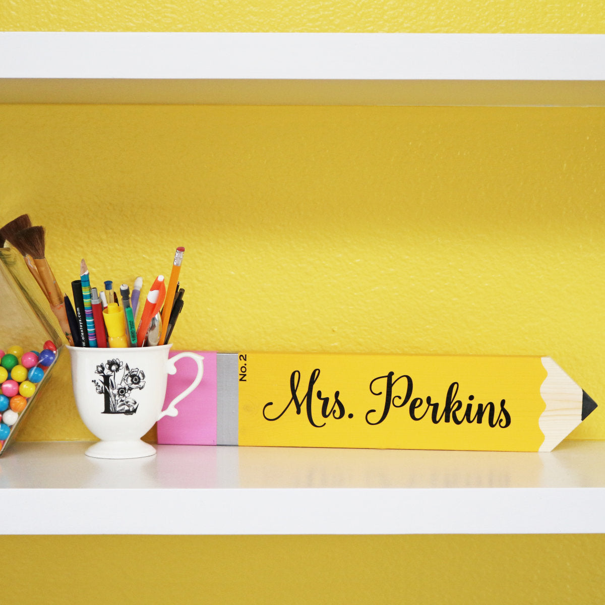 Personalized Teacher Pencil or Crayon Sign