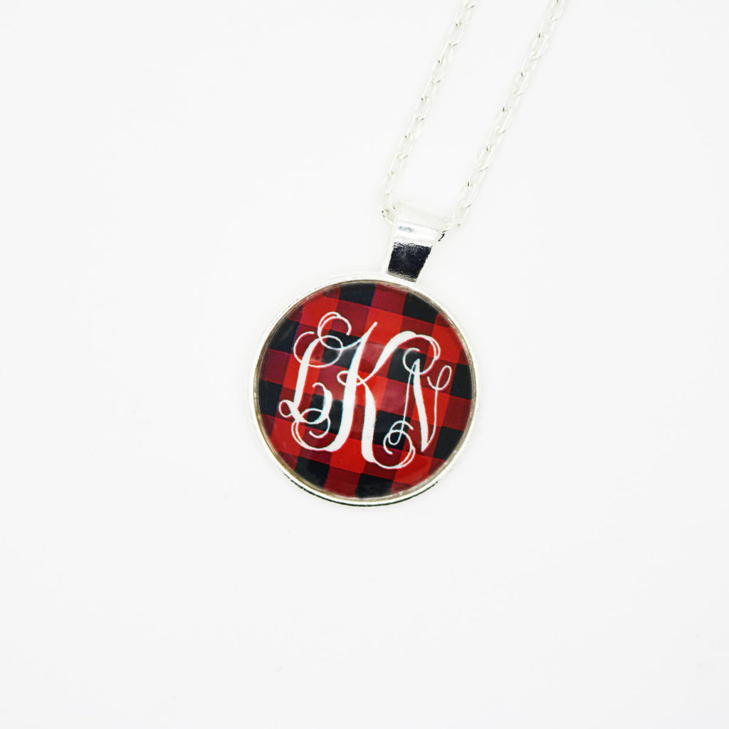 Monogram Plaid Necklaces - Krafty Chix New