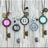 Monogram OR Greatest Blessing Skeleton Key Necklaces