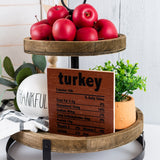 Tier Tray Fall Ingredient Sign Decor | 2 Pack
