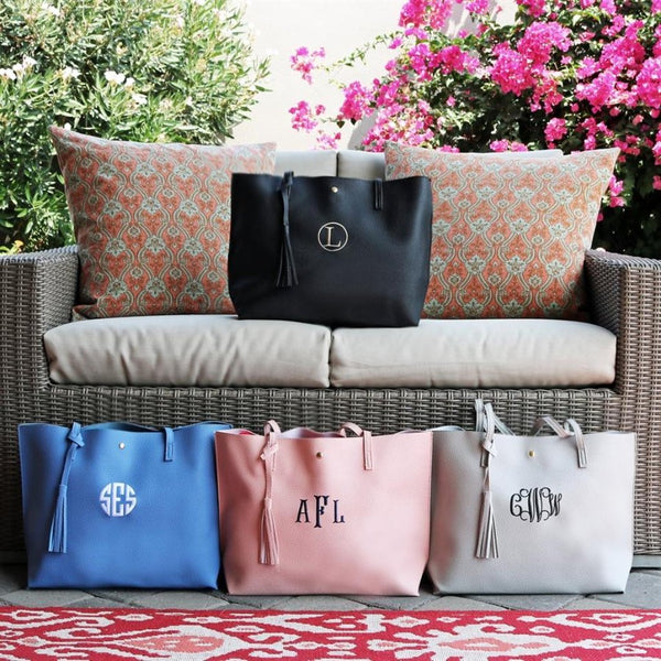 Personalized Tassel Totes