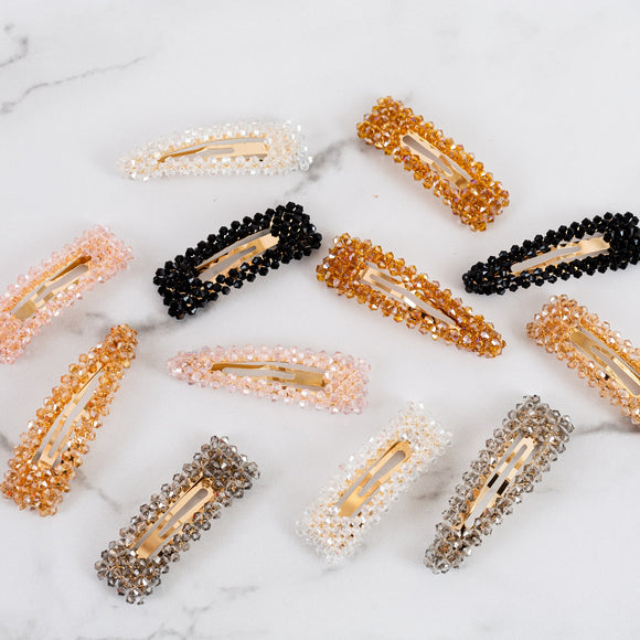 Crystal Hair Clips | Clearance Blowout!
