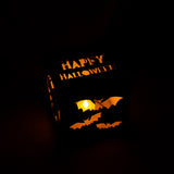 Halloween Wood Light Box | Candle Lit