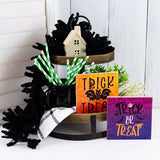 Tier Tray Signs - 2 Pack - Halloween Themed