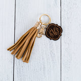 Monogram Key Fob With Large Tassel