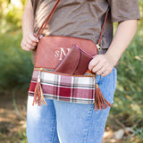 Monogram Plaid Tassel Cross-Body