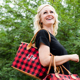 Monogram Buffalo Plaid Totes | 2 Colors