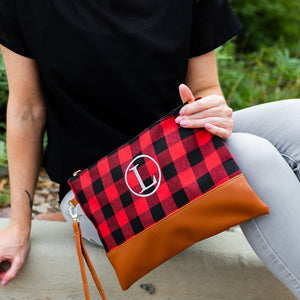 Buffalo Checkered Clutches - Monogrammed