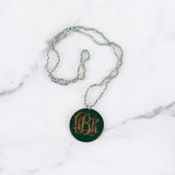 Amelia Glass Bead Monogram Necklace