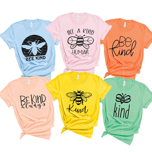 Bee Kind Tees - 9 Designs