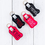 Hand Sanitizer Keychain Holder - Name or Monogram