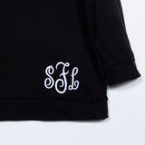 Monogram Scoop Neck Sweatshirts