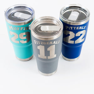 Sport Name & Number 30 oz Engraved Tumblers