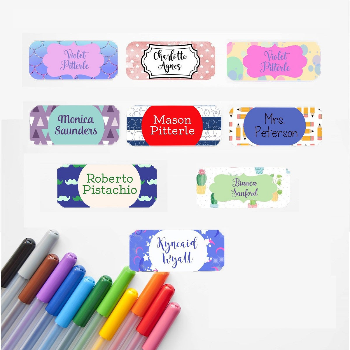 Back to School Name Labels | 60 Pack
